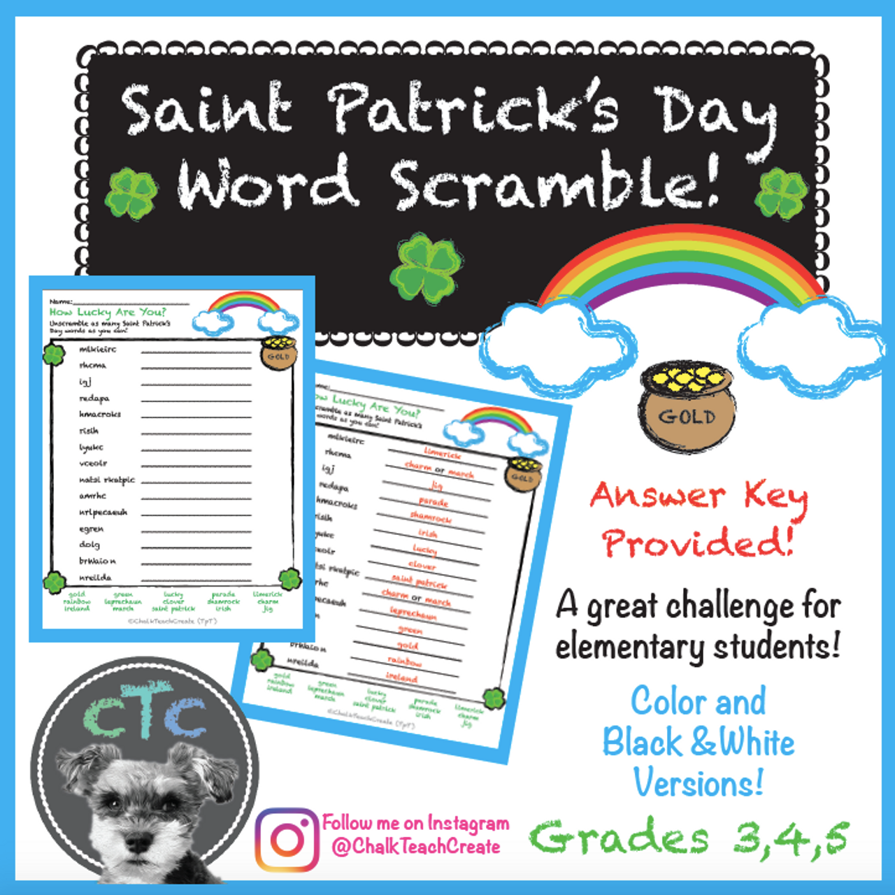 St. Patrick's Day Word Scramble!