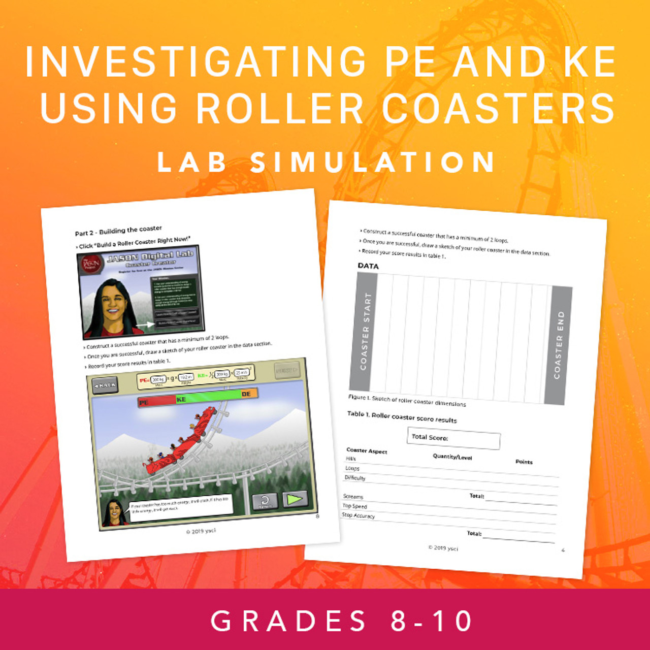 Investigating Kinetic and Potential Energy Using Roller Coasters