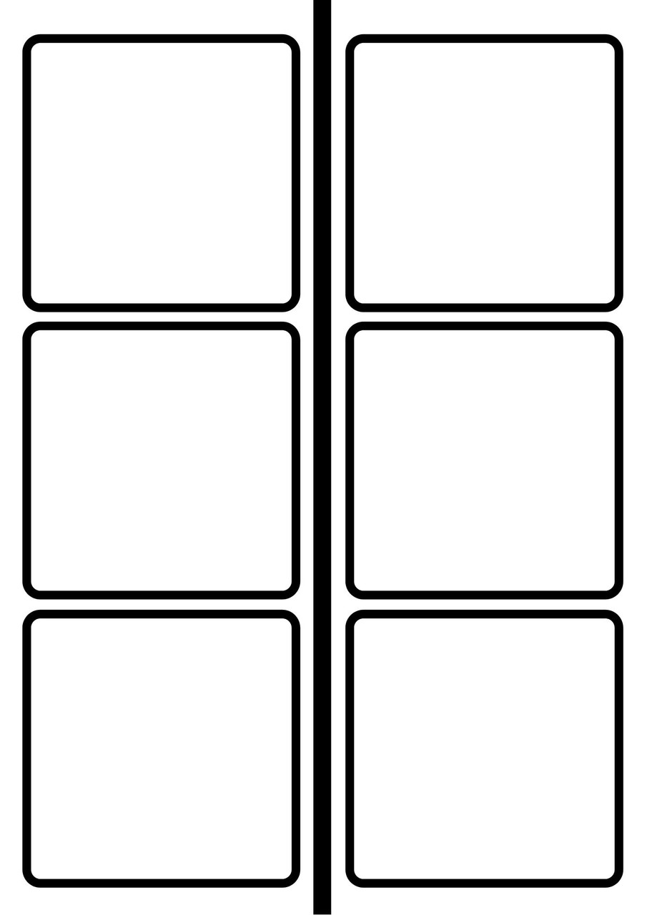 blank timeline pages for assembling the timeline after cutting the cards apart
