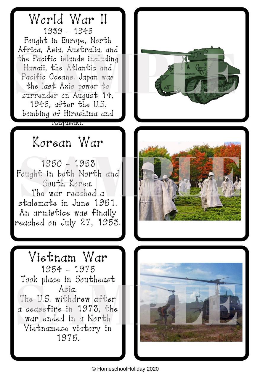 Sample timeline cards