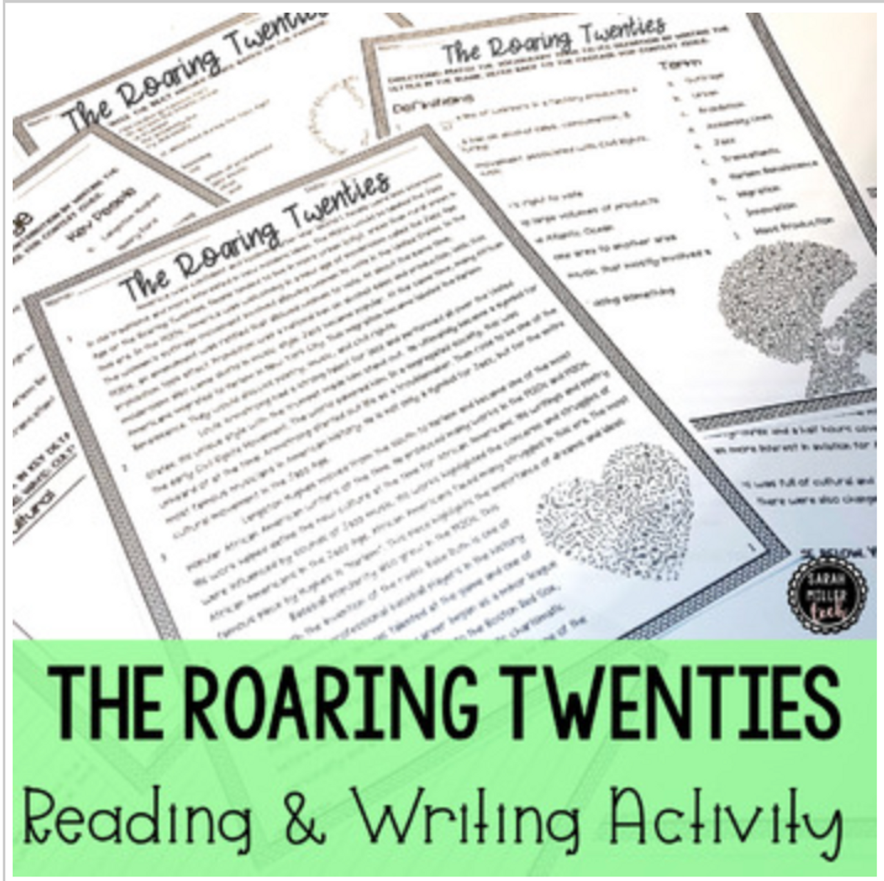 1920s Culture Reading and Writing Activity Packet