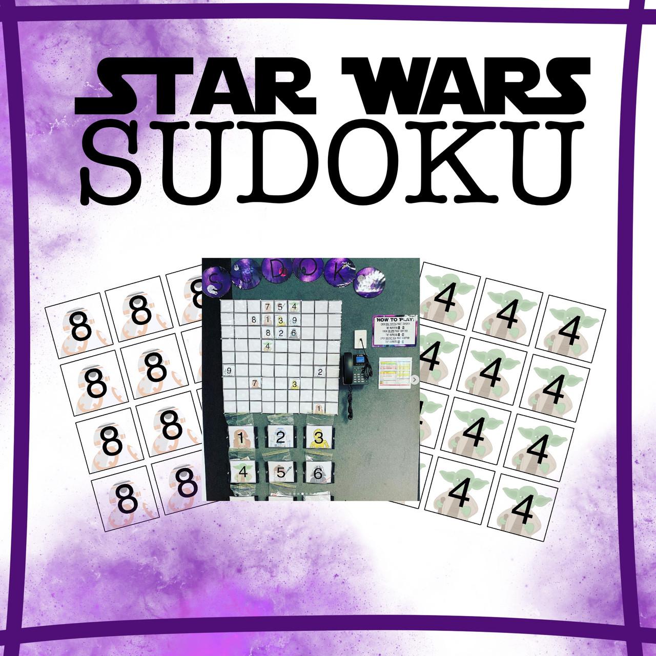 Large Interactive Star Wars Sudoku