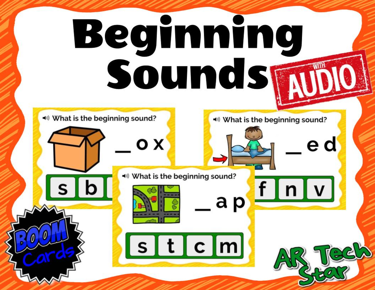 Beginning Sounds Boom Cards with AUDIO