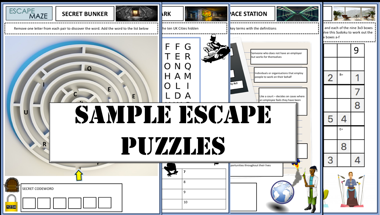 3rd Gen Primary Digital Escape Room