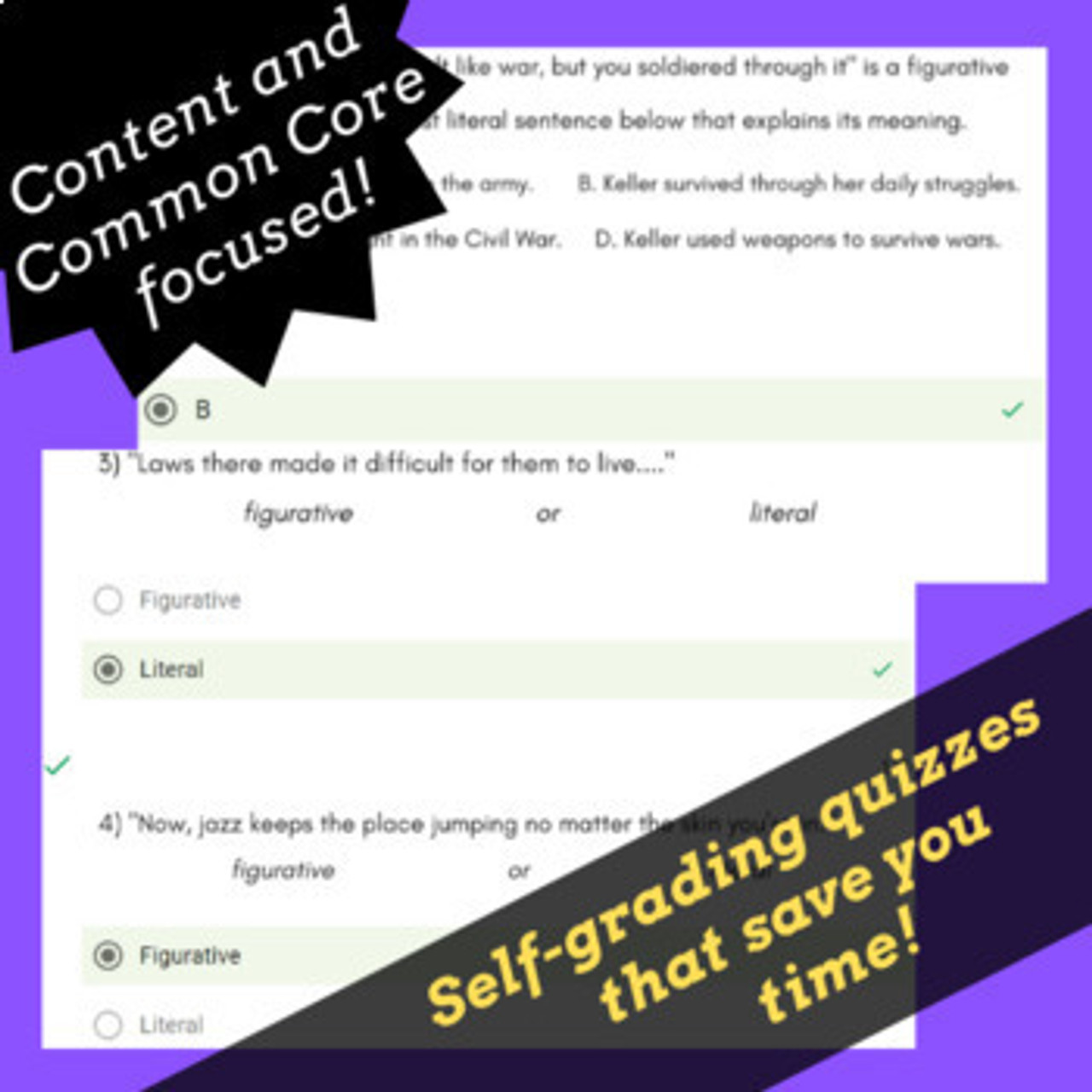 Google Forms Figurative Language Activities for Middle School Using Rap Songs