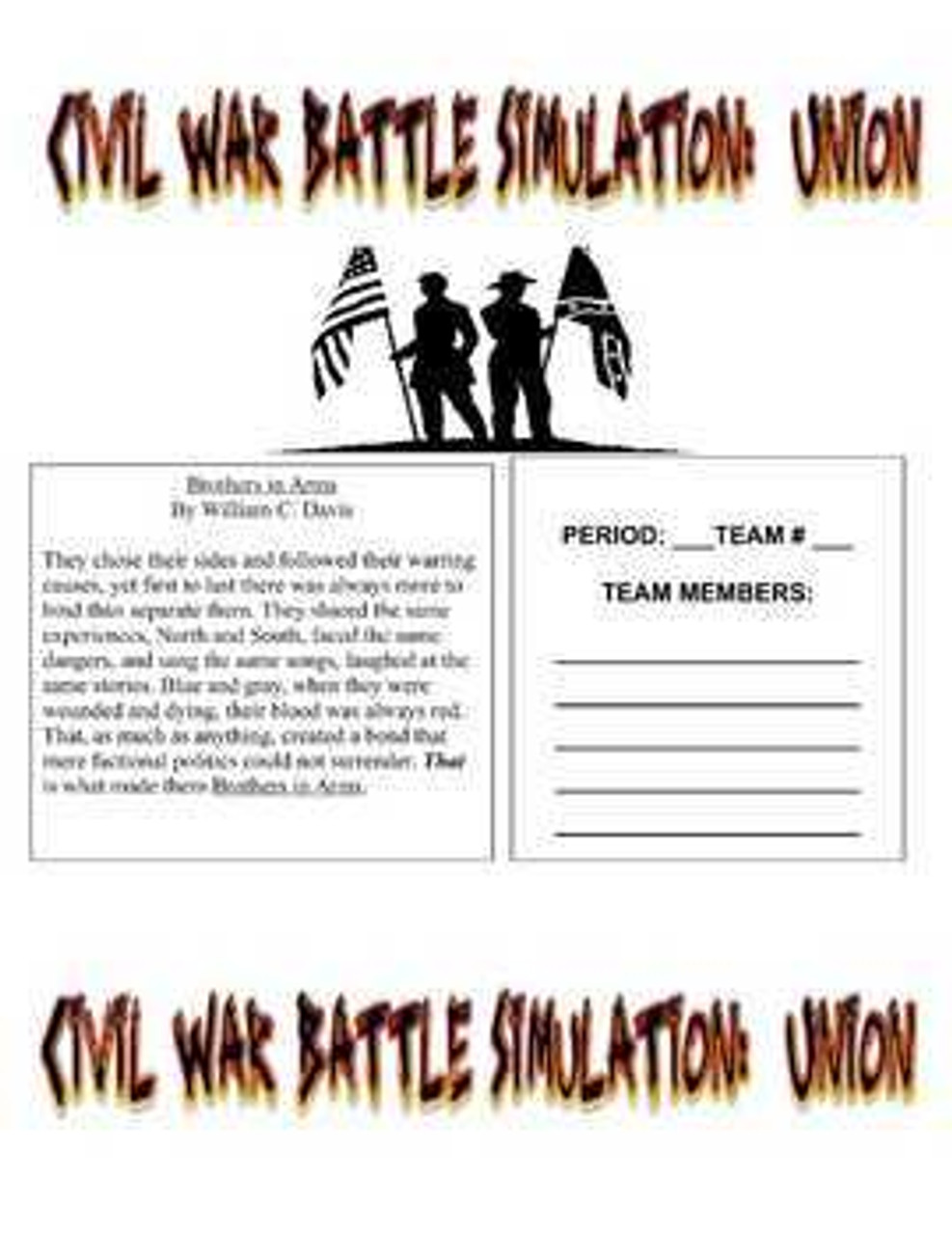 Civil War Battle Simulation