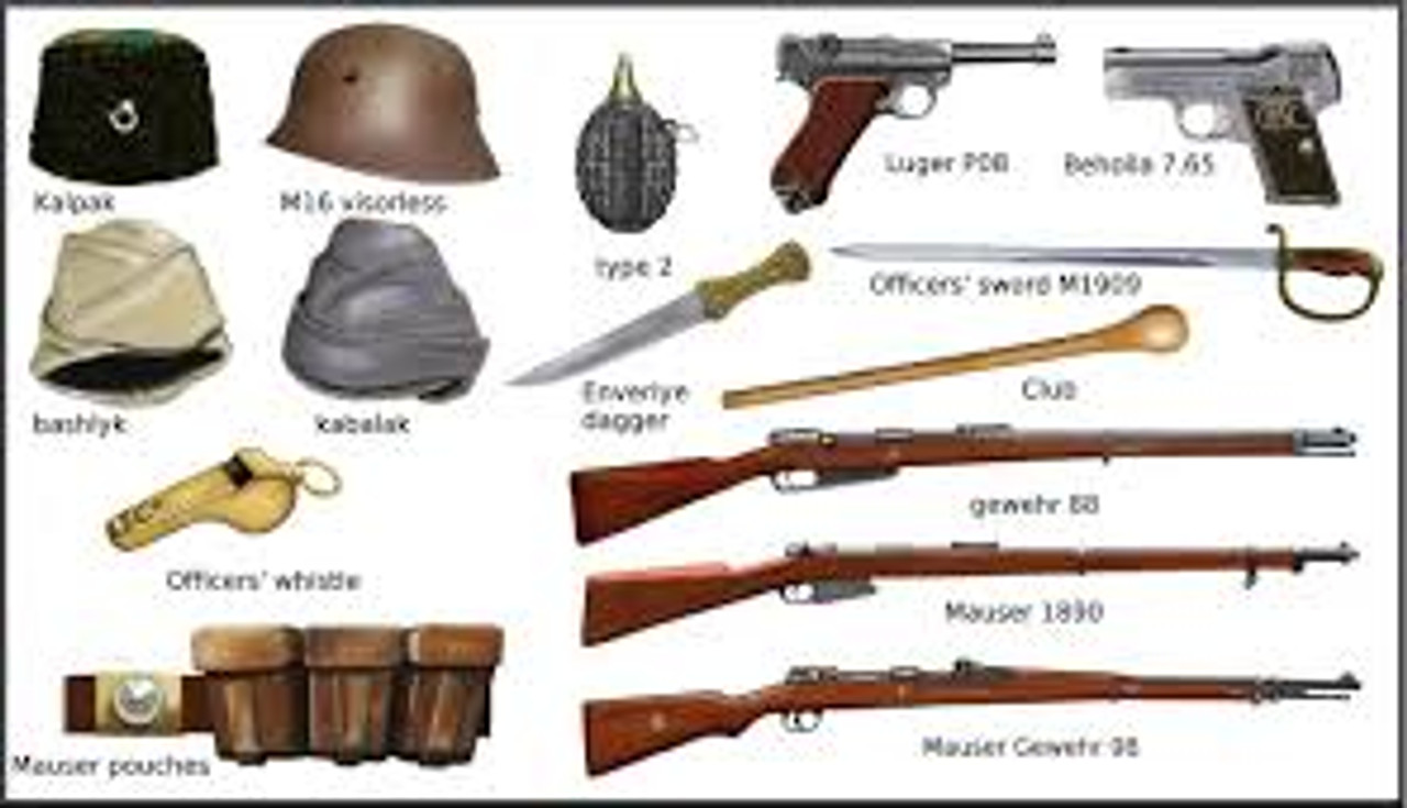 Weapons of World War 1 project