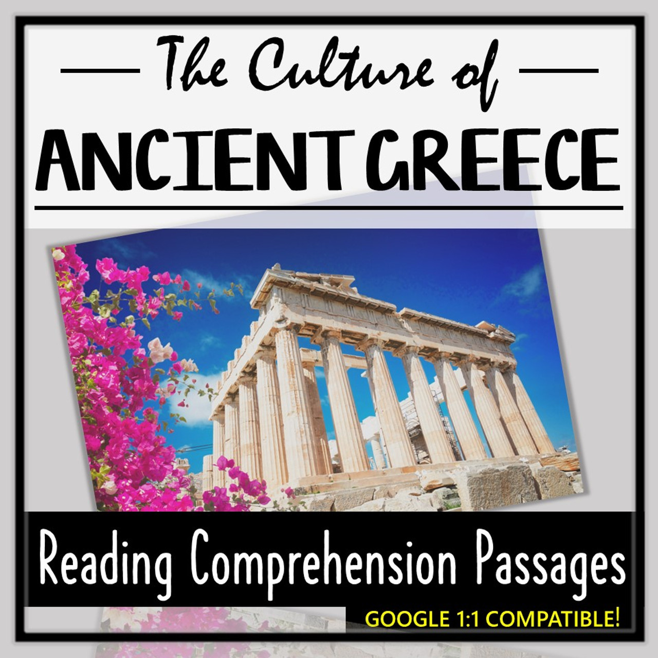 Ancient Greece Reading Comprehension- The Culture of Ancient Greece!