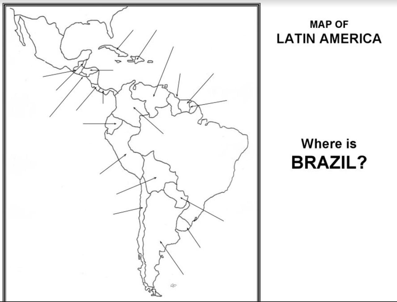 Latin America Map Activity