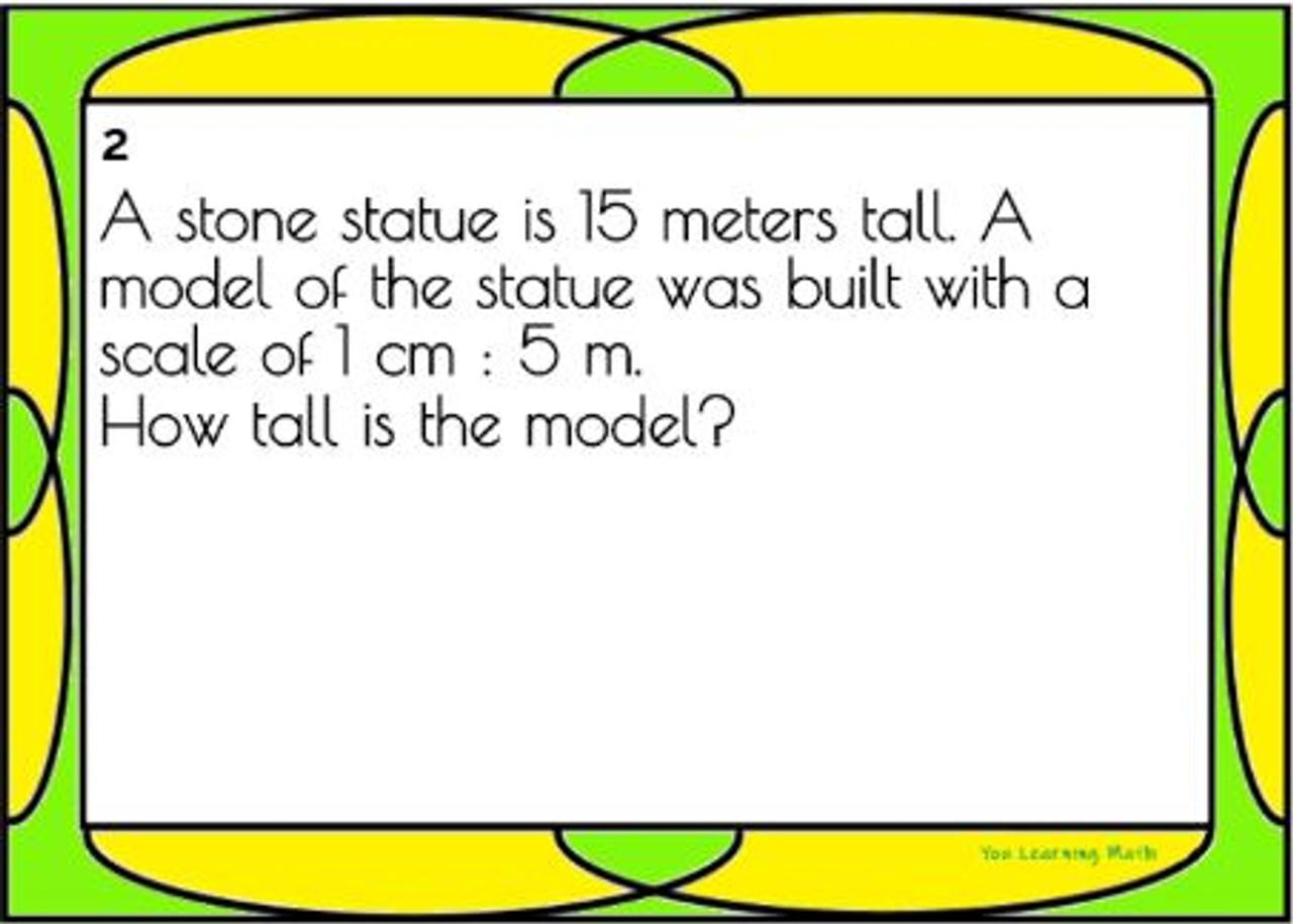 Similar Figure Word Problems: 18 Task Cards