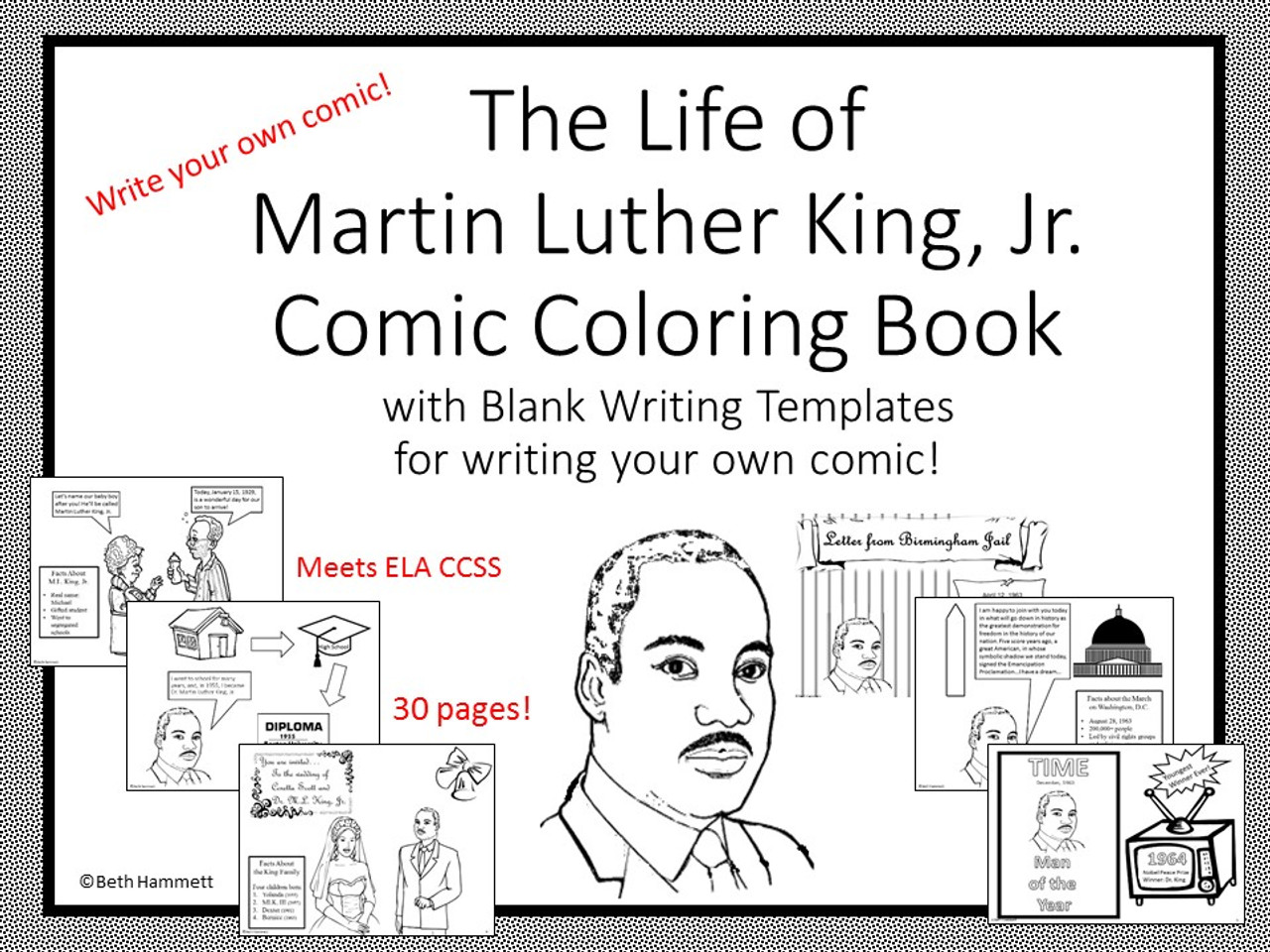- Martin Luther King, Jr. Comic Coloring Book - Amped Up Learning