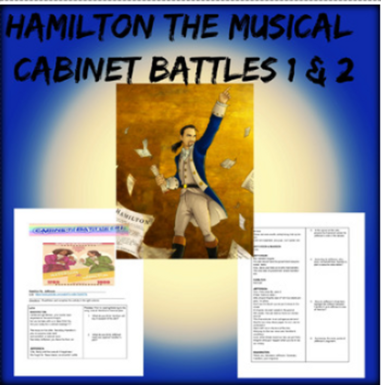 Hamilton Musical Cabinet Battlers 1 and 2 Lessons