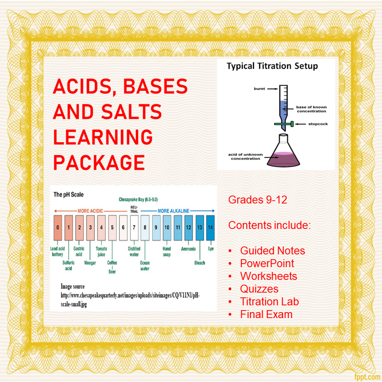 Acids, Bases and Salts Learning Activities (Distance Learning)