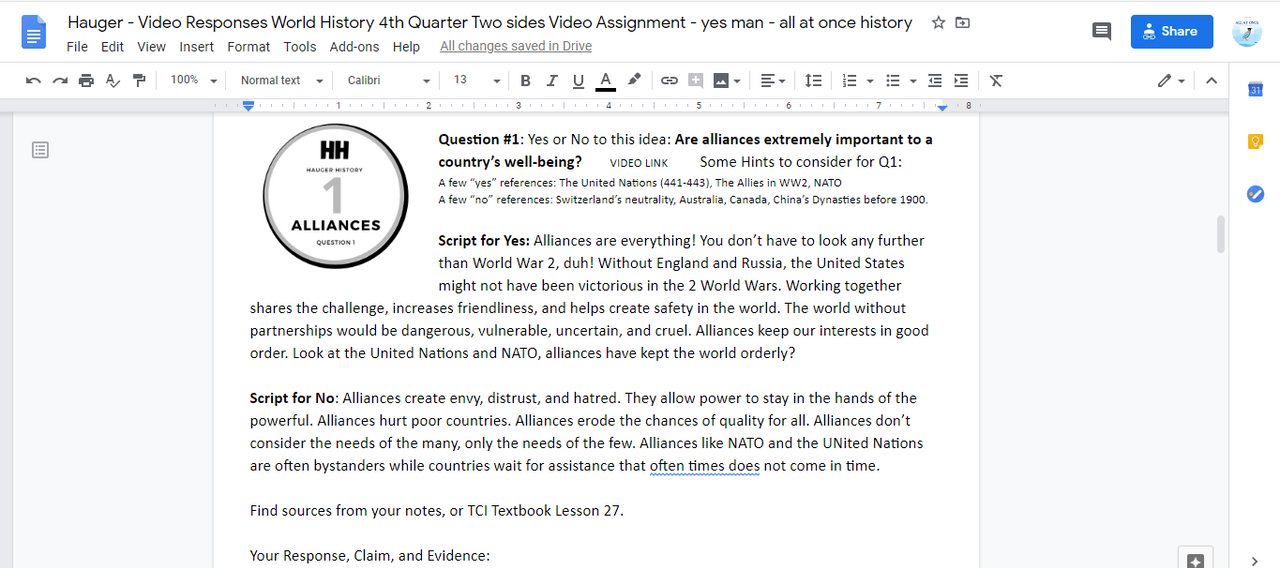 5 Cold War Debate Videos for Students to Listen and Write a Claim with Evidence
