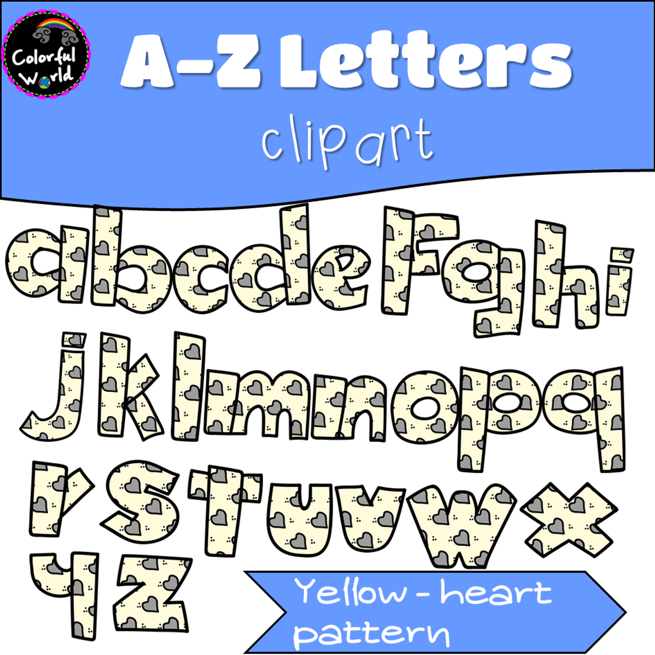 Lowercase letters clipart