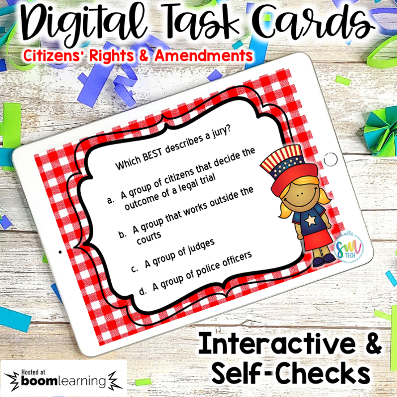 Citizen's Rights & Amendments DIGITAL Task Cards | DISTANCE LEARNING