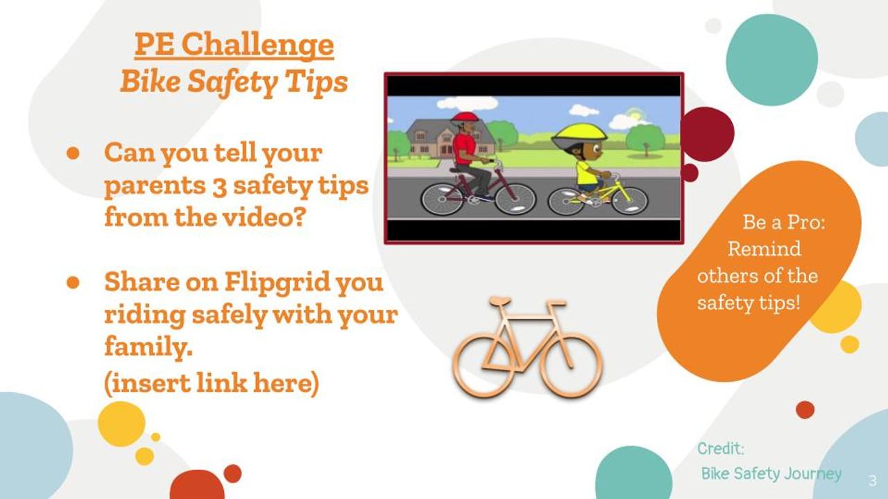 Bike Safety Lesson