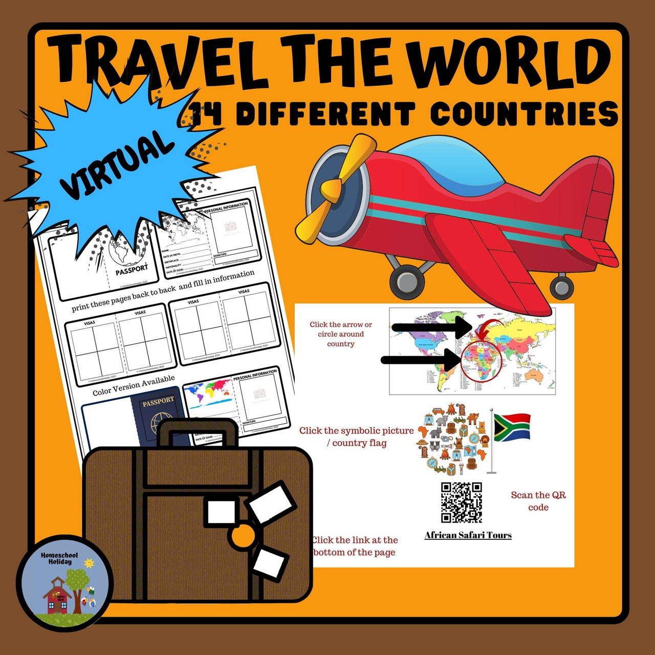 Travel around the World - Visit 14 countries