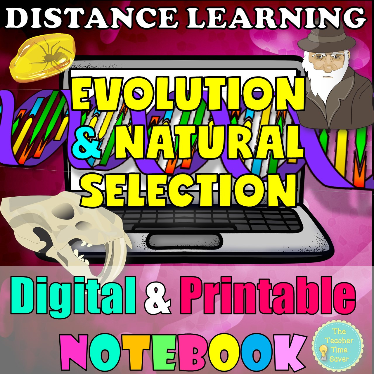 DISTANCE LEARNING- Biology Year Bundle | Cells Genetics Evolution Ecology Classification