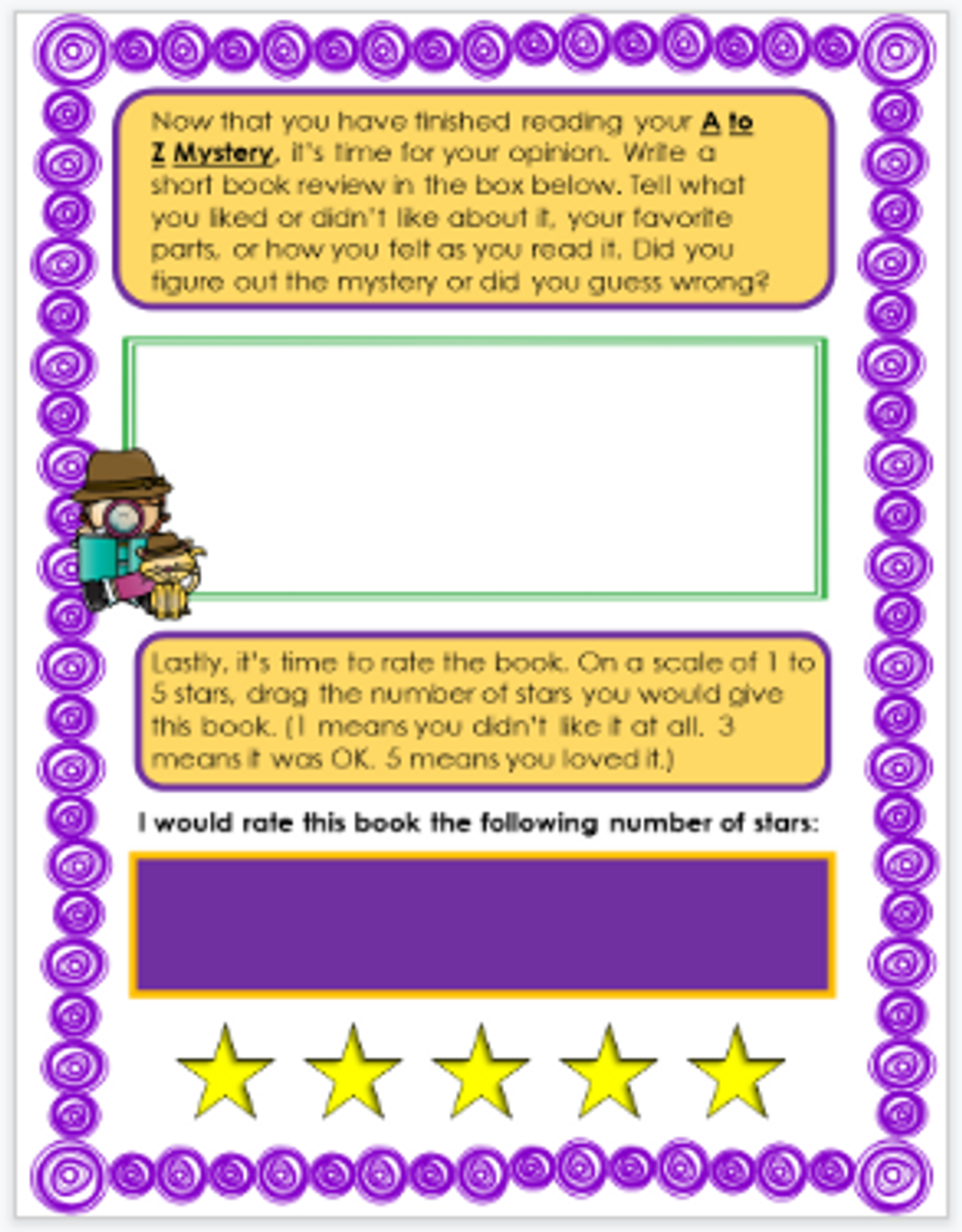 A to Z Mysteries Digital Novel Study in Google Slides