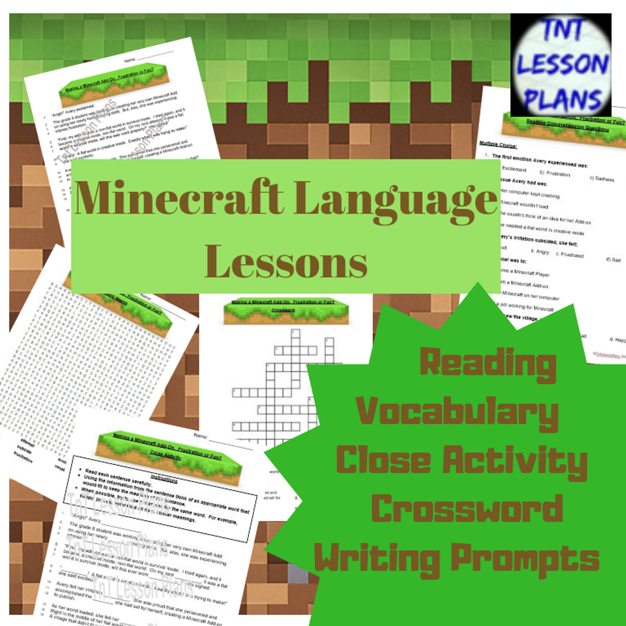 Minecraft Language Lessons For Middle School