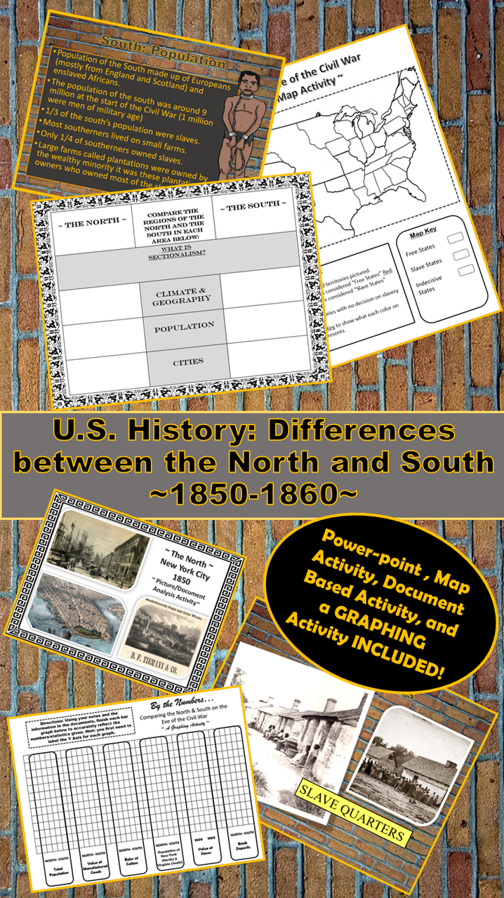 differences between the north and south during the civil war