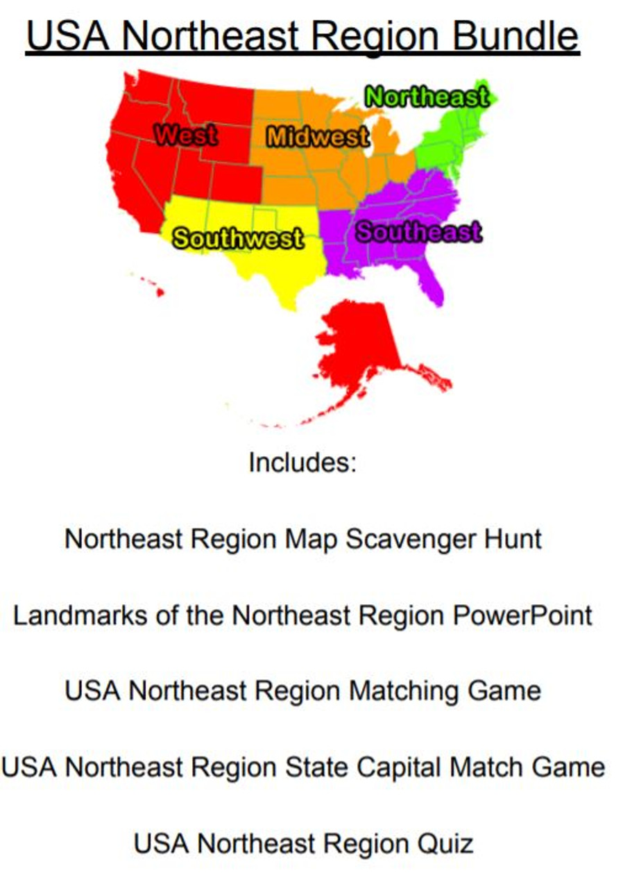 Image of: Usa Northeast Region Bundle Amped Up Learning