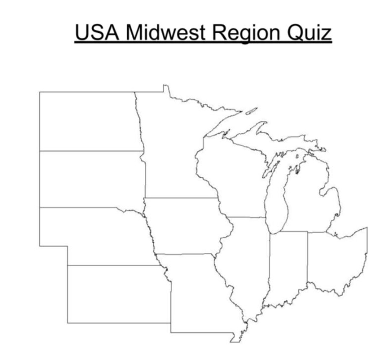 USA Midwest Region Quiz - Amped Up Learning