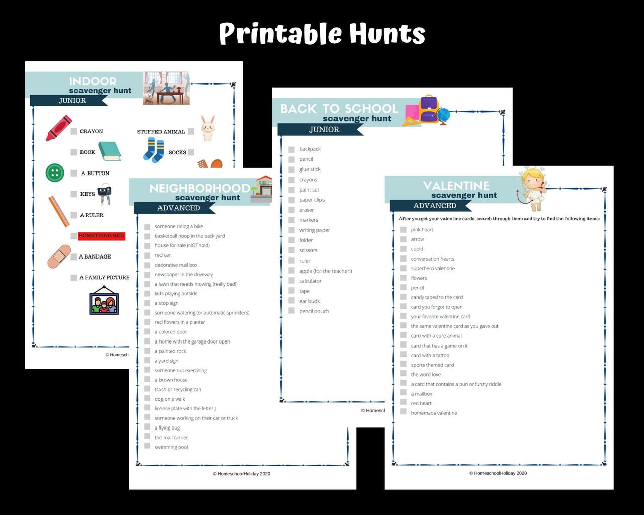 Scavenger Hunt Mega Pack!  Printable- Editable & Digital