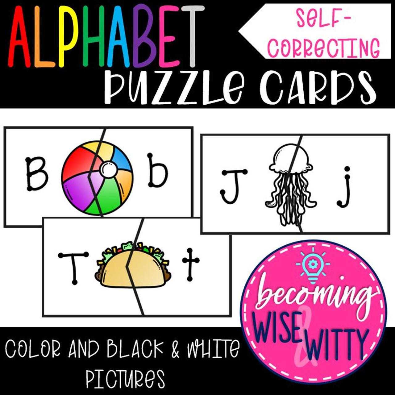 Alphabet Puzzle Cards {Matching}