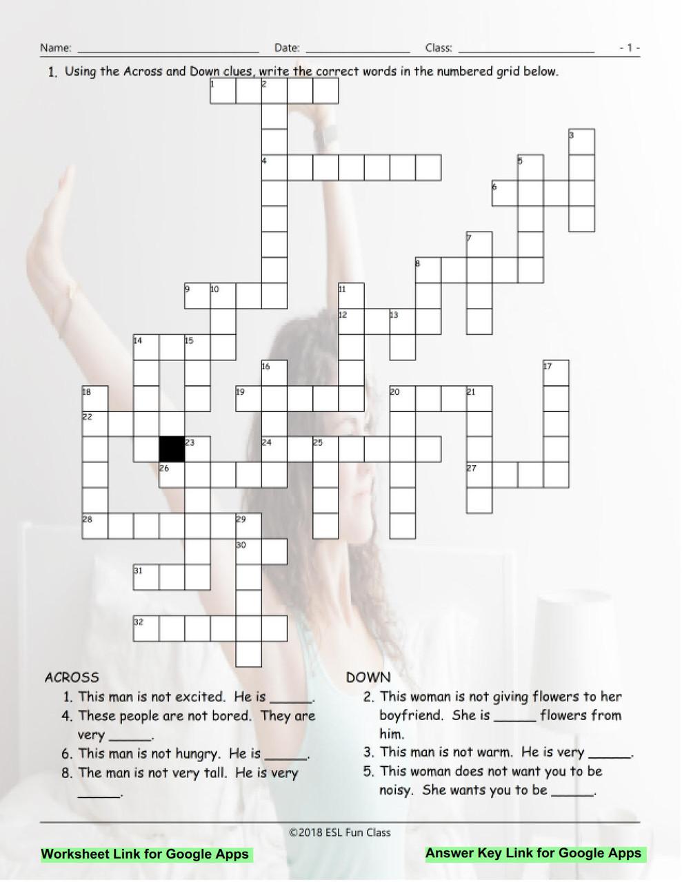 Antonyms Interactive Crossword Puzzle For Google Apps Links