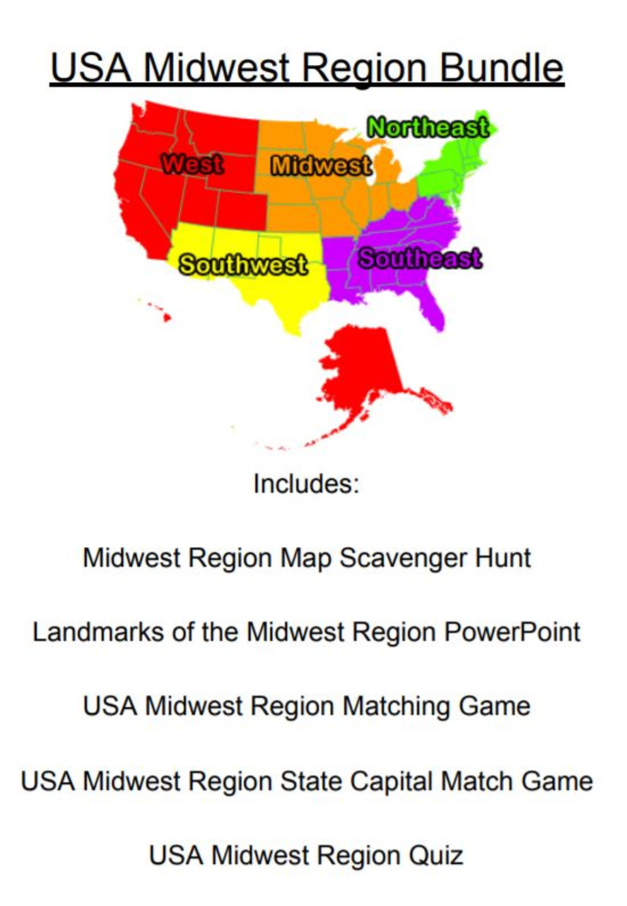 USA Midwest Region Bundle - Amped Up Learning