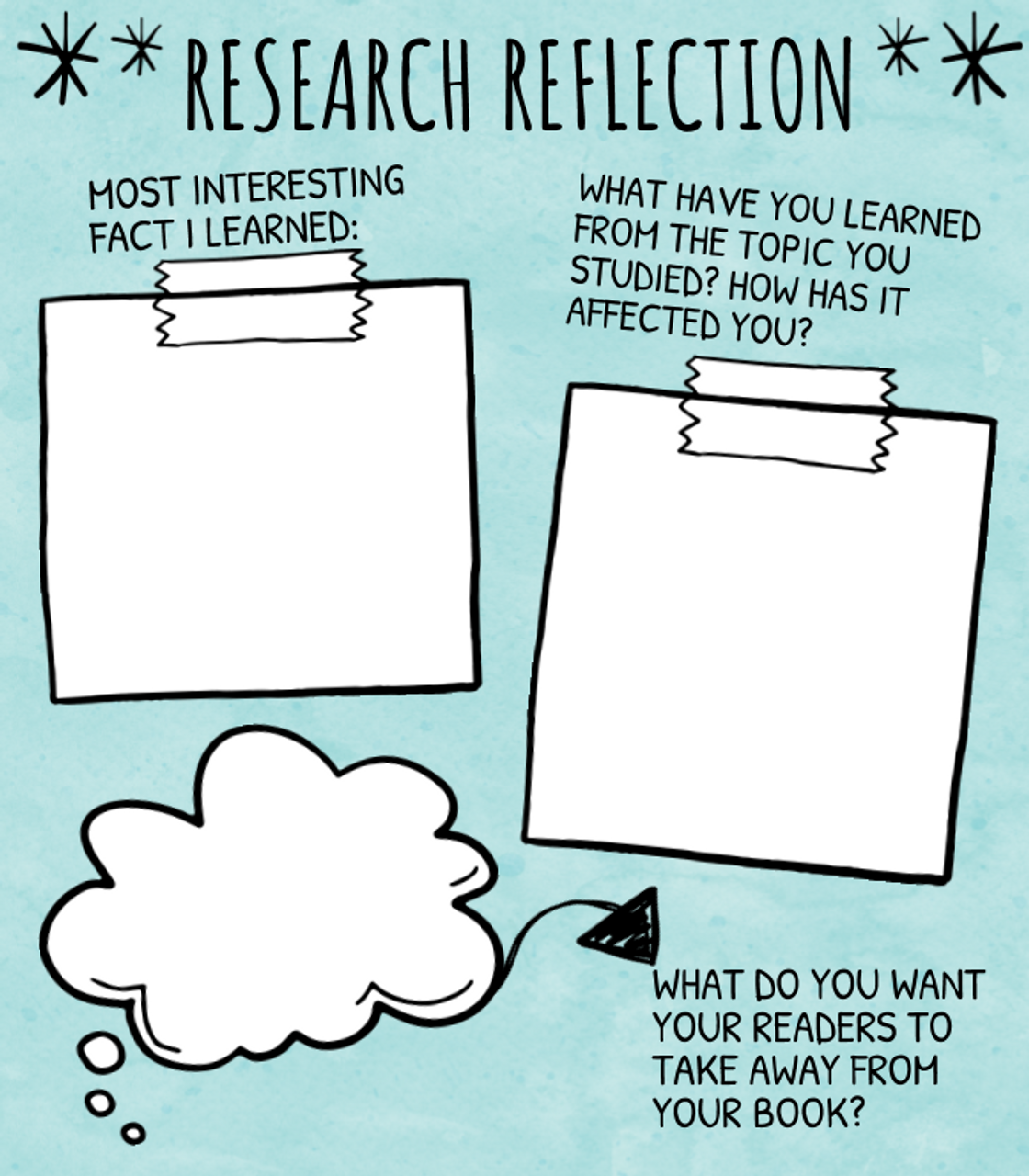 Digital Research Report Template for Google Classroom