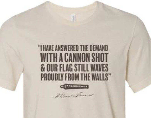 """William B. Travis """"with a cannon shot"""" (Front AND Back)"""