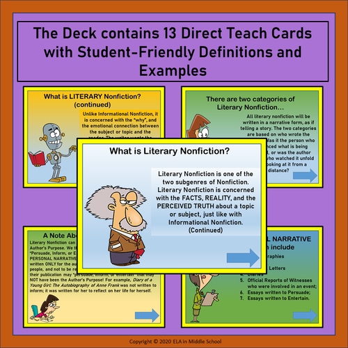 Literary Genres: The Literary Nonfiction Subgenre BOOM! Cards (TM)
