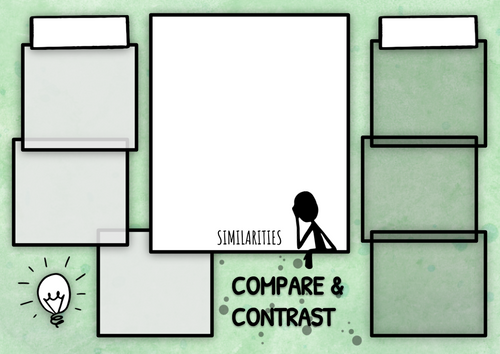 Graphic Organizers: Compare & Contrast (Digital and Printable)