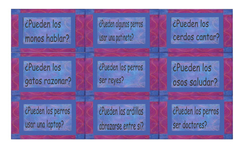 Ability Modals Spanish Legal Size Text Card Game