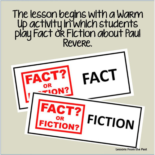 Paul Revere & The Midnight Ride - Fact or Fiction and Illustrate the Midnight Ride