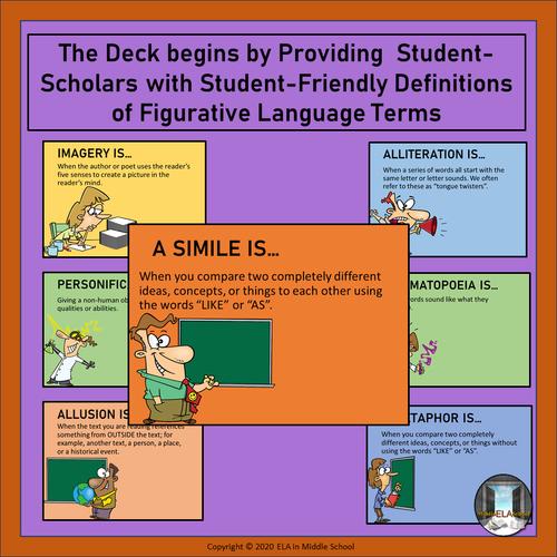 FREE - Figurative Language BOOM! Cards (TM) SAMPLE