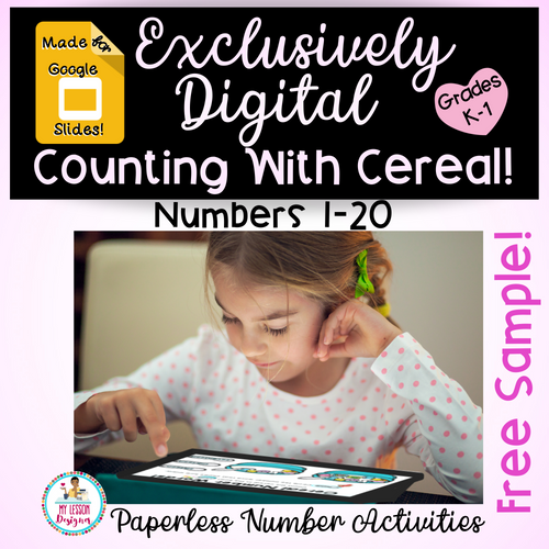 FREEBIE Exclusively Digital Google Slides Counting With Cereal-Distance Learning