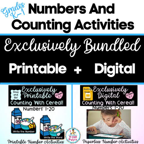 Exclusively Bundled-Google Slides Counting With Cereal | Distance Learning
