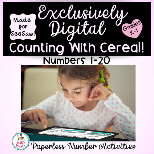 Exclusively Digital-SeeSaw Counting With Cereal | Distance Learning