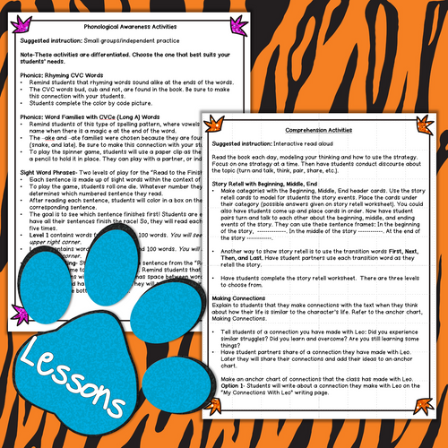 Leo the Late Bloomer Printable Literacy Activities   Distance Learning