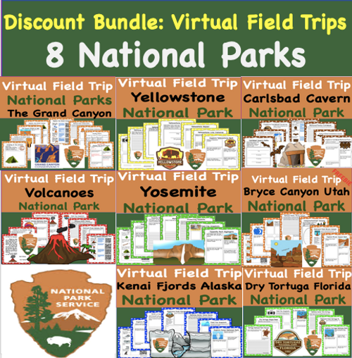 Discount Bundle - Virtual Field Trip Park  to the the National Parks 8 Trips for the Price of 5