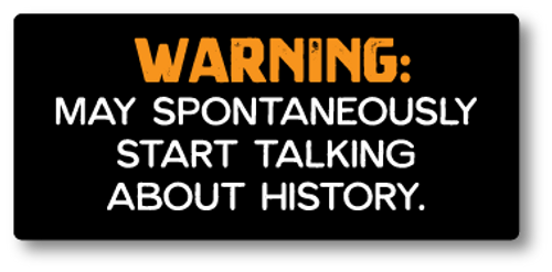 """""""Warning: May Spontaneously ..."""" Sticker 4"""" x 2"""""""