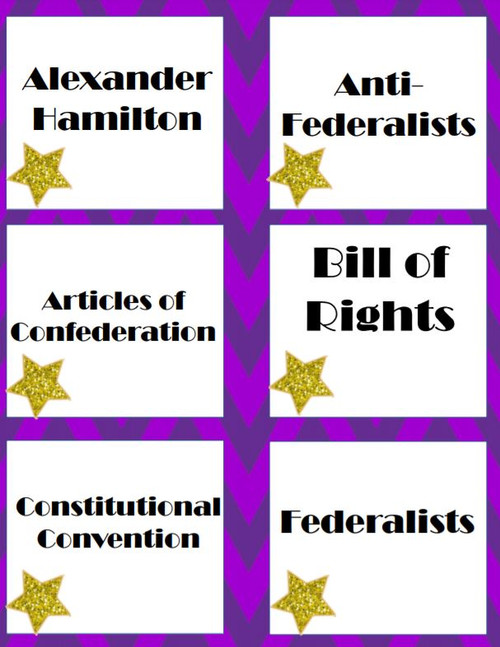 Constitution STAAR Review Game