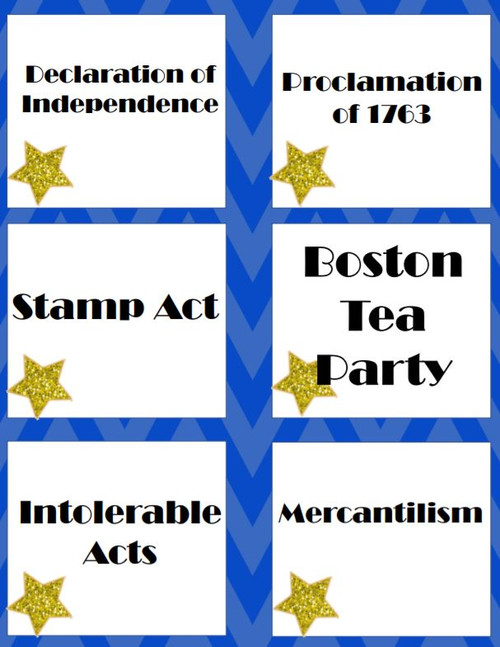 American Revolution STAAR Review Game - Heads Up