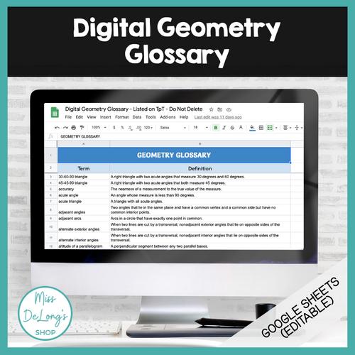 Digital Geometry Glossary