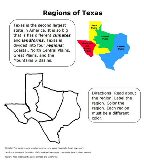 Texas Regions Reading and Notes