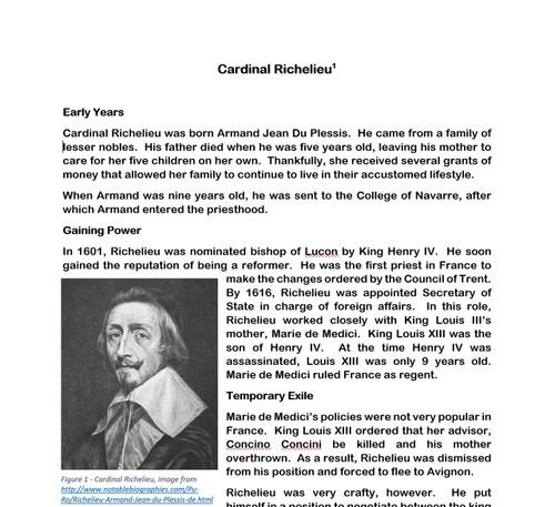 Age of Absolutism: Cardinal Richelieu